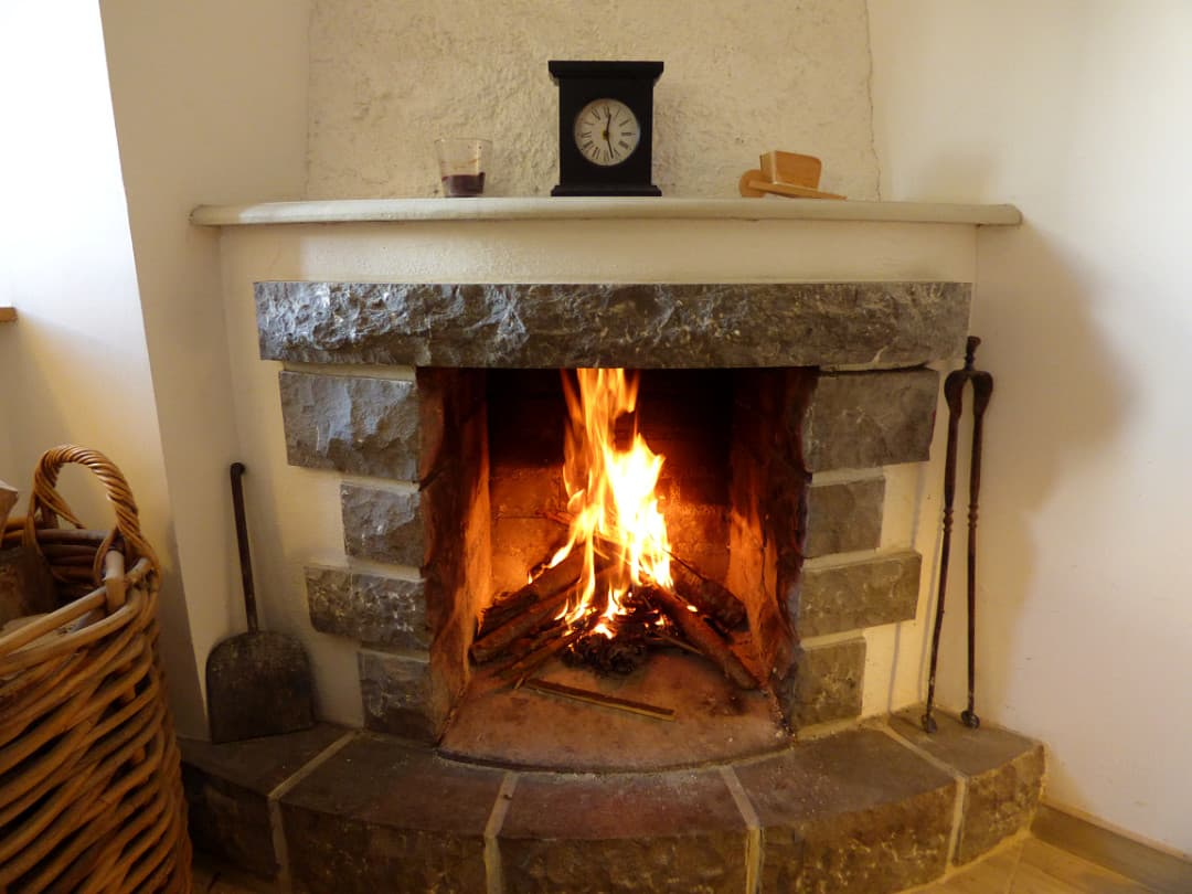 The open fire adds extra warmth and character when the temperature drops
